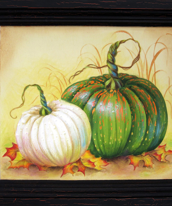 Pumpkin Study Pattern Packet by Laure Paillex ©2016 painting in acrylic