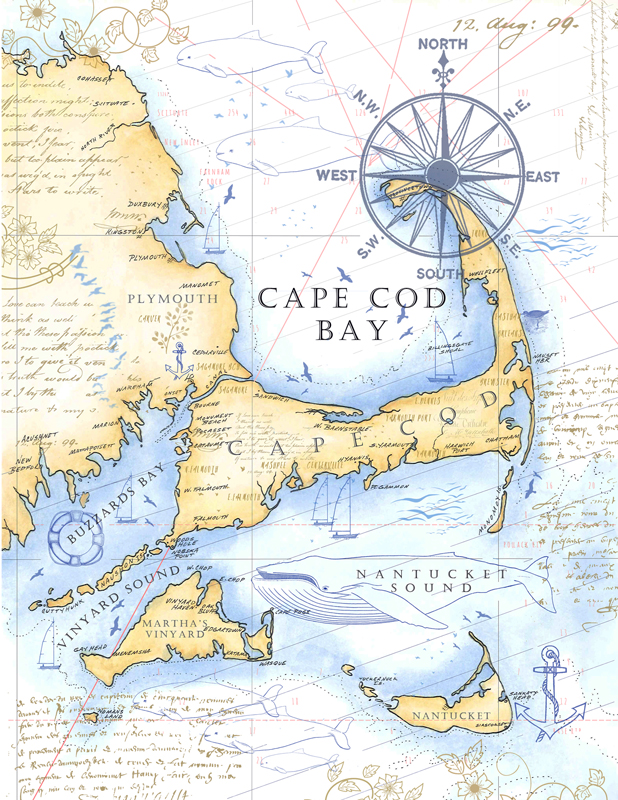 Crafty image throughout printable map of cape cod