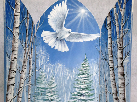 Peace Dove with birch trees Painting Pattern Packet by Lauré Paillex ©2016