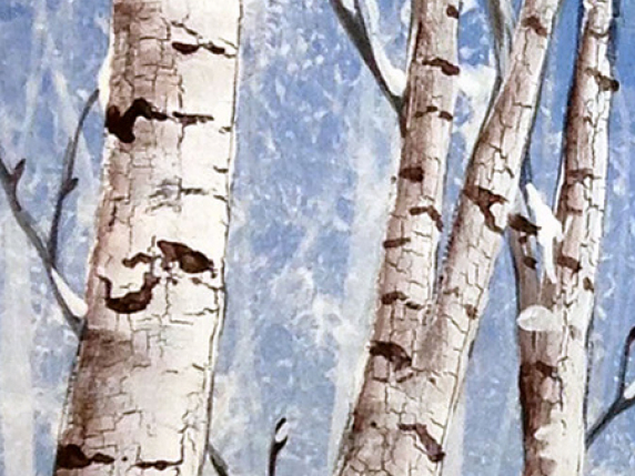 Birch trees close-up from Painting Pattern Packet by Lauré Paillex ©2016