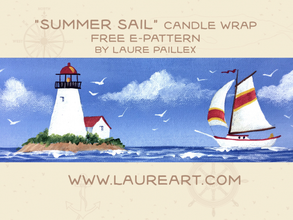 Summer Sail Candle Wrap by Laure Paillex 2019