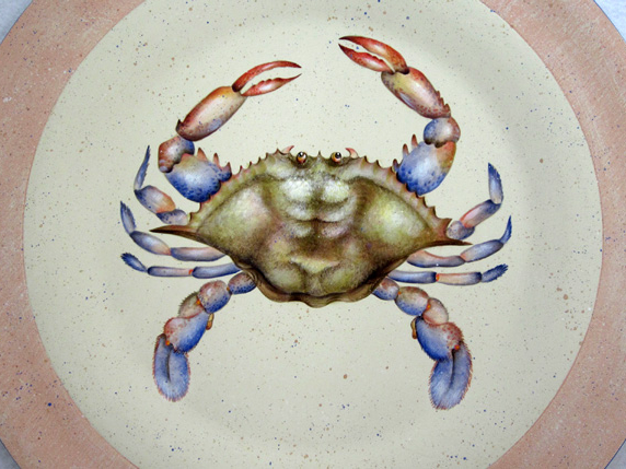 Blue Crab and Shells - Pattern E-Packet #502 by Lauré Paillex