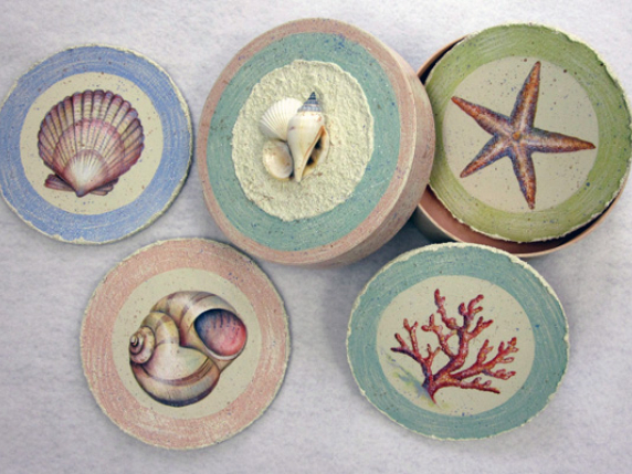 Blue Crab and Shells - Pattern E-Packet 502 by Lauré Paillex