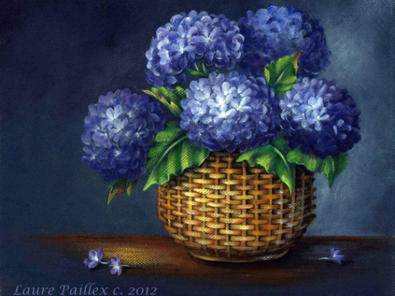 Midnight Blues hydrangeas - E-Packet #504 by Lauré Paillex