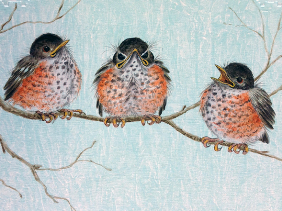 """Cheer up!"" Robins pattern packet by Laure Paillex"