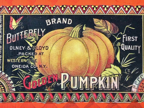 Vintage Pumpkin label for EP-542 by Laure Paillex ©2015