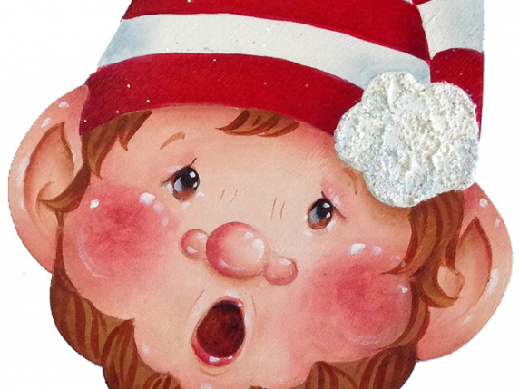 Christmas Elf Wood Ornament Painting Pattern E-Packet by Lauré Paillex