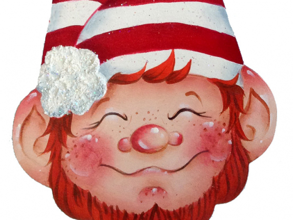 Christmas Elf Wood Ornament Painting Pattern Packet by Lauré Paillex