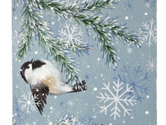 Snow Day for Chickadees pattern packet 568 by Laure Paillex