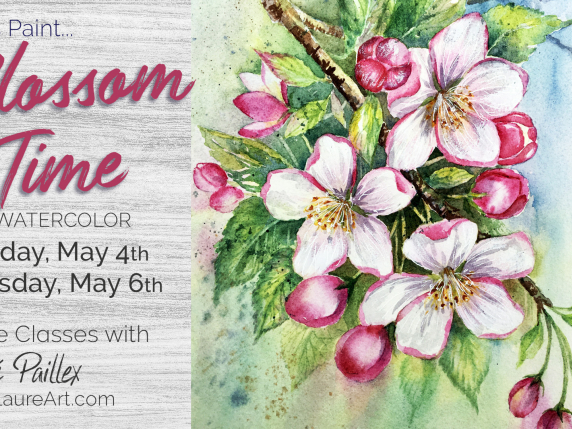 """""""Blossom Time"""" watercolor by Laure Paillex"""
