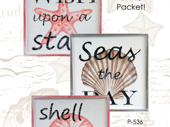 Sea Shells E-pattern painted in acrylics by Laure Paillex ©2017