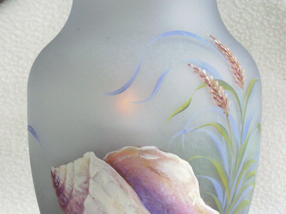 Seychelles Shell Luminary Vase by Laure Paillex