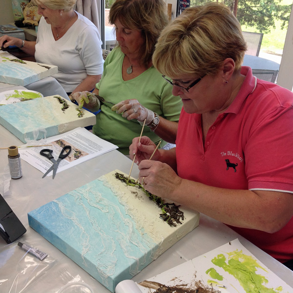 Open Painting Classes in Acrylics with Laure Paillex