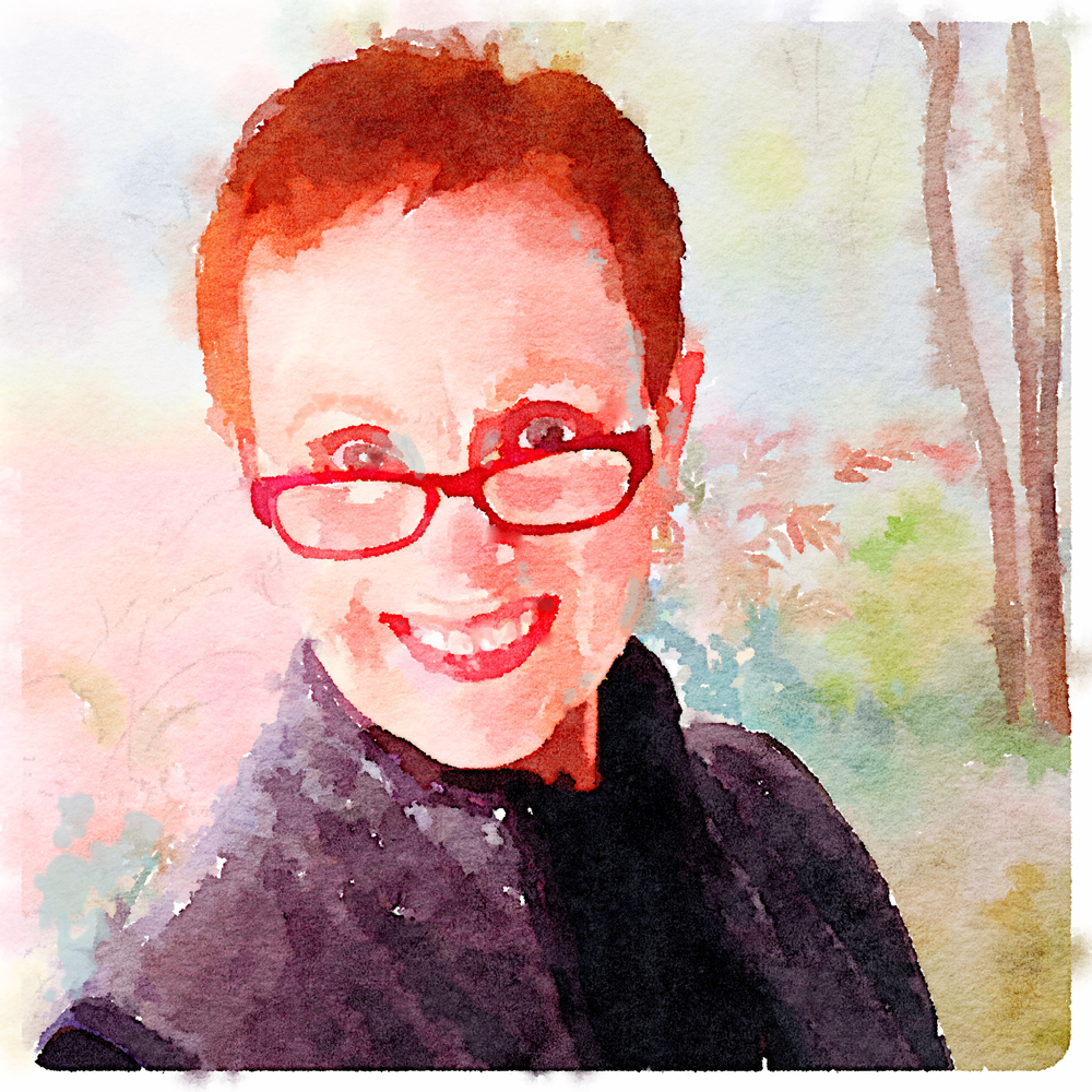 laure paillex self portrait watercolor