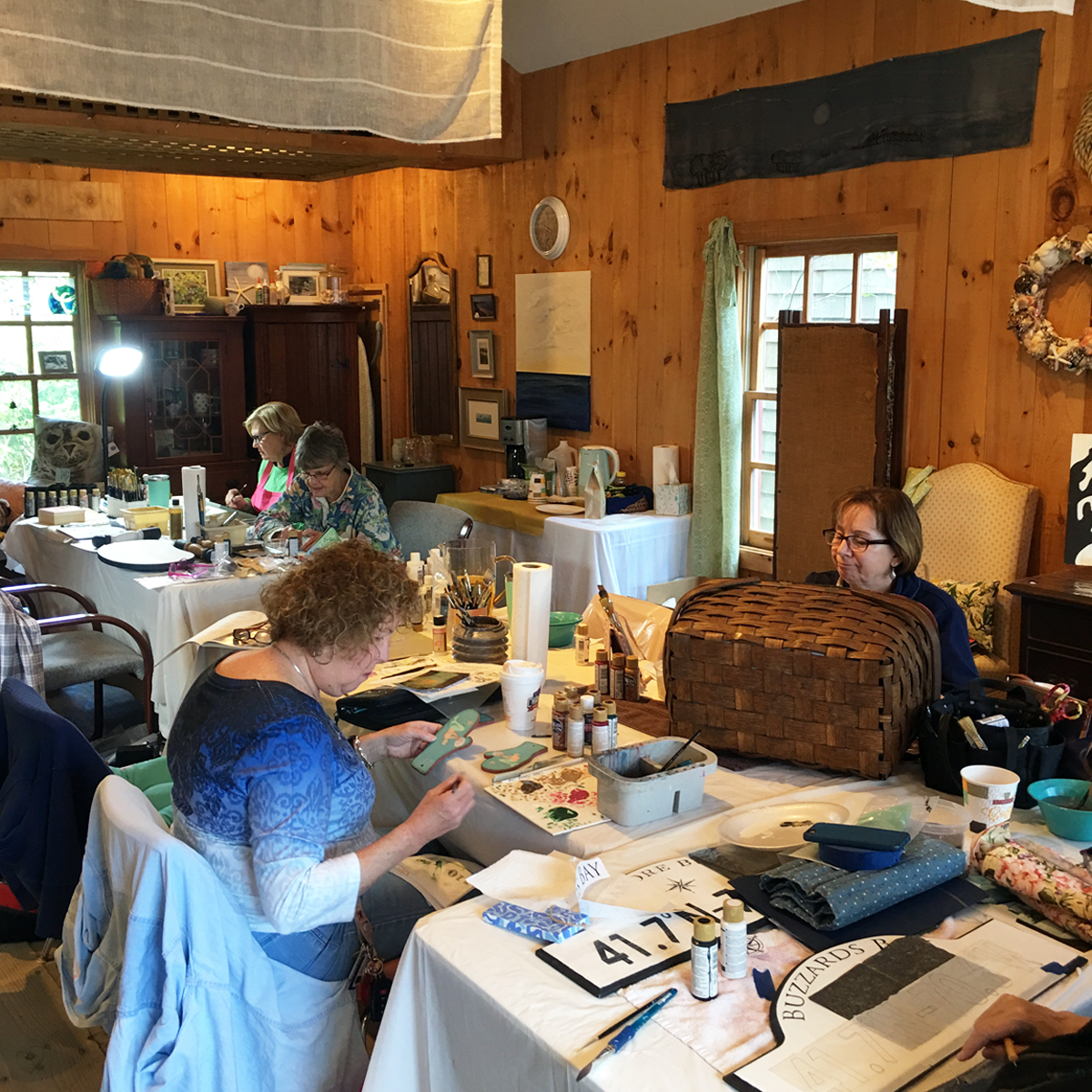 Laure Paillex  acrylic painting class at ECHO wareham MA