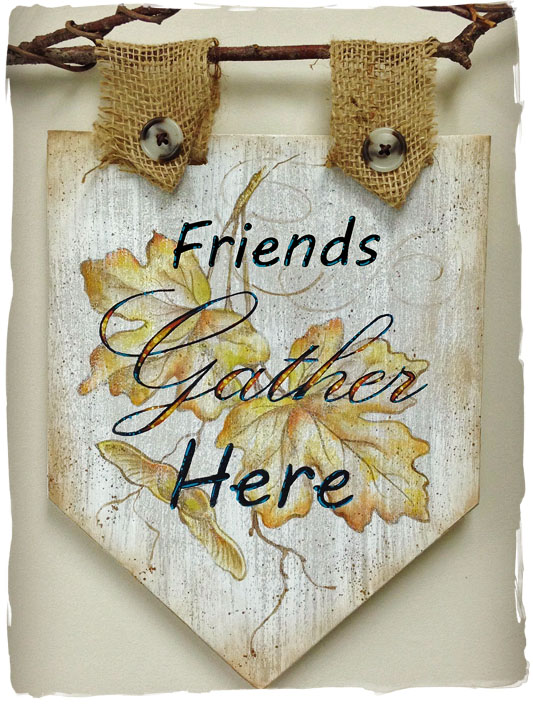 Friends Gather Here Pattern Packet in Acrylics by Laure Paillex