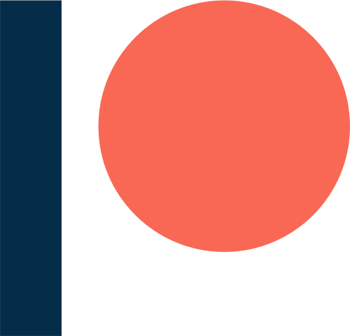 patreon logo graphic navy orange